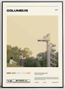 Columbus  Kogonada  Vintage Retro Art Print, Minimalist Movie Poster, Wall Art A