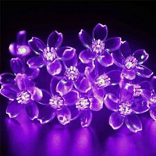 100/200/300 LED Cherry Blossoms Peach Flower String Fairy Lights Christmas Party