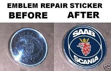 2 Saab scania hood trunk emblem repair stickers 900 93