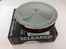 "Chrome Air Cleaner 9"" x 2"" Chevy Mopar Ford Spectre 47708 Washable Filter HPR"