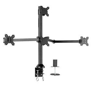 "VIVO Steel Quad Monitor Desk Mount Adjustable 3 + 1 Stand   4 Screens up to 32"""