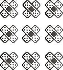 9 UNIDADES - PEGATINAS - STICKERS - Tiritas - 5 CM - VINILO - Vinyl - Aufkleber