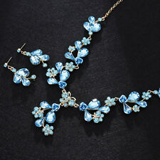 Vintage Wedding Bridal Party Crystal Rhinestone Necklace Earring Jewelry Sets