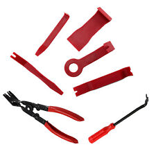 7PC Car Door Upholstery Trim Clip Removal Pliers & Tool Combo Dash Panel NEW