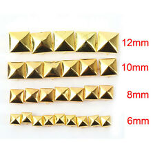 100pcs/lots Square Pyramid Rivet Metal Studs Spots Spikes Punk Leathercraft DIY