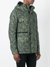 Belstaff Camouflage Print Parka Men's Green Coat Jacket Size 50