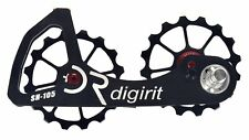 DIGIRIT Oversized Black Pulley 16/16T Wheel System For Shimano 105 NIB 2018