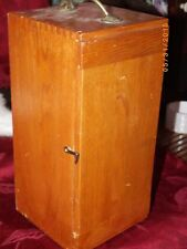 Vintage  Research Mark XIX Model 1935 Microscope in Wooden Box w/ Both Lenses