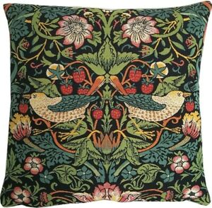 """NEW 18"""" WILLIAM MORRIS STRAWBERRY THIEF B 40 BELGIAN TAPESTRY CUSHION COVER 1881"""