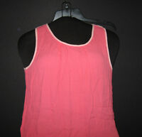 NWT Ann Taylor LOFT sleeveless top Small Bright Coral with light trim $44.50