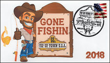 18-021, 2018, Tip-up Town, Pictorial Postmark, Event Cover, Fishing