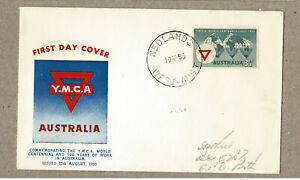 Australia 1955 GUTHRIE YMCA FDC Cover cd Nedlands