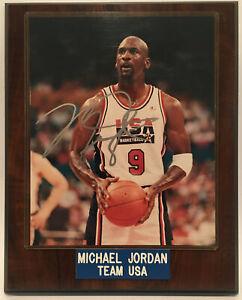 Michael Jordan 1992 Team USA Framed Original Autographed Photo 8x10 Wood Frame
