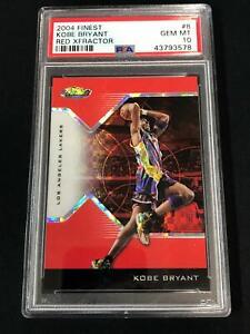 2004 Finest Red Xfractor #8 KOBE BRYANT PSA 10 Los Angeles Lakers 85/99 POP 8