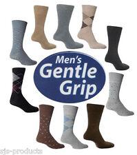 3 Pairs MENS Gentle Grip NON ELASTIC Socks Soft COTTON Honeycomb Top Size 6 - 11