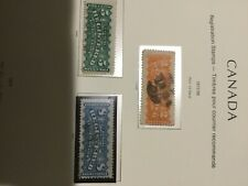 1875 Registered Letter Stamp Set (2 Cent, 5 Cent & 8 Cent - Perf. 12 Dent.)