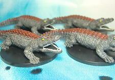 Dungeons & Dragons Miniatures Lot  Visejaw Crocodile Swamp Encounter !!  s112