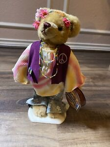 Hippy Ivy Peace Pickford Bears 20th Century Brass Button  1960's