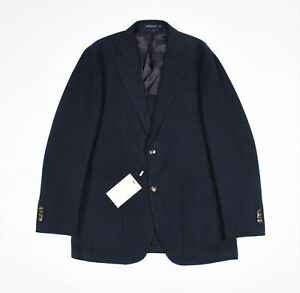 $499 Suit Supply Havana Patch Navy Plain Men Slim Jacket Blazer 48/38