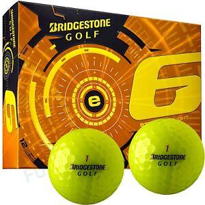 Bridgestone e6 Straight Flight Golfbälle gelb optic yellow 12 Stück 1 Dutzend