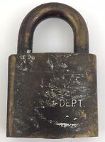 Vintage N&W Railroad Signal Dept Lock - No Key