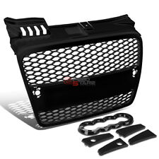 05-08 AUDI A4 RS STYLE BLACK ABS PLASTIC FRONT BUMPER SPORT GRILL/GRILLE COVER