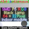 1x RGB P5 HD led screen display module 64x32 led display module dot matrix 5mm
