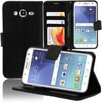 Housse Etui Portefeuille Support Video Rabat NOIR Samsung Galaxy J5 SM-J500F