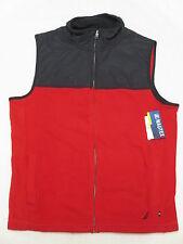 $89 NWT Mens Nautica Colorblock Zip Nautex Fleece Vest Jacket Red Navy Sz S M725