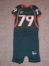 2008 Miami Hurricanes Chris Barney Player Team Issued Football Jersey ACC NIKE