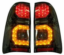 FOR TOYOTA HILUX VIGO SR5 MK6 05-14 CHAMP MK7  REAR BLACK SMOKE LED TAIL LIGHT