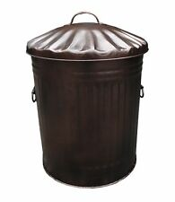 Large 60L BRONZE Metal Bin Fireside Coal Wood Log Kindling Ash Storage Bucket