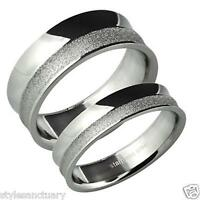 Silver Wedding Ring Mens Ladies Womens Engagement Eternity Commitment Wide Band