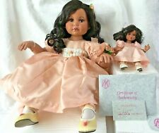 Marie Osmond Fine Porcelain Heaven On Earth Rose Doll and Tiny Tot doll /Coa