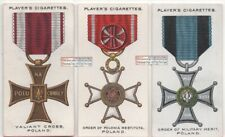 Poland Post WWI Military War Decorations and Medals THREE 1920s Ad Trade Cards