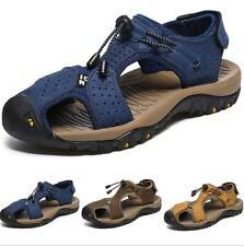 Chic Mens Flats Beach Sandals Shoes Flats Slingback Soft Non-slip Slip on Casual