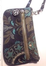 Spartina Daufuskie Island Linen And Leather Wristlet Wallet :fast shipping :(55)