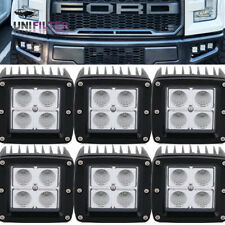 6pc Invisible Behind OEM Grill Bumper LED Fog Light Kit For 2017 2018Ford Raptor
