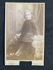 Victorian Carte De Visite CDV: Young Girl Silk Screen: Debenham: London
