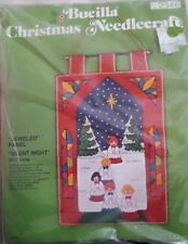 Brand new Bucilla christmas needle craft jeweled panel silent night kit 2346