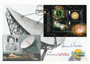 2002 Autographed Editions Signed Sir Bernard Lovell Astronomy  stamps FDC