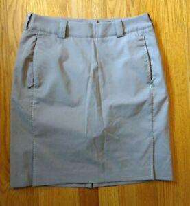 ⛳NIKE GOLF Dri Fit Skirt Skort Moisture Wicking Dark Khaki Women's 2 NWOT