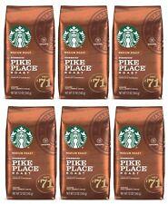 6 PACK Starbucks Medium Pike Place Roast Coffee Ground 12 oz BEST BEFORE 11/2020