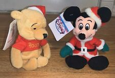 Disney Beanies Santa Mickey & Pooh