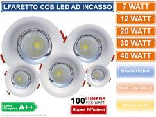 FARO FARETTO LAMPADA COB LED DA INCASSO ROTONDO BIANCO 7W 12W 20W 30W 40W