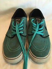 Pre-owned Worn Size 4Y Nike SB Stefan Janoski Skateboard Shoes Blue/Black