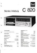 Service Manual-Anleitung für Dual C 820