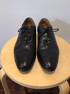 "Mens AQUILA Black Leather Lace Up Shoes Size 42"" ..."