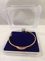 Men Women Magnetic Copper Bracelet Therapy Arthritis Healing W/ Jewelry Case NEW
