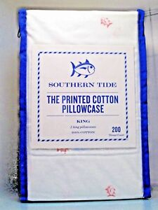 SOUTHERN TIDE The Printed Cotton 2 x Pillowcase (Tossed Skip Jack) Size :King